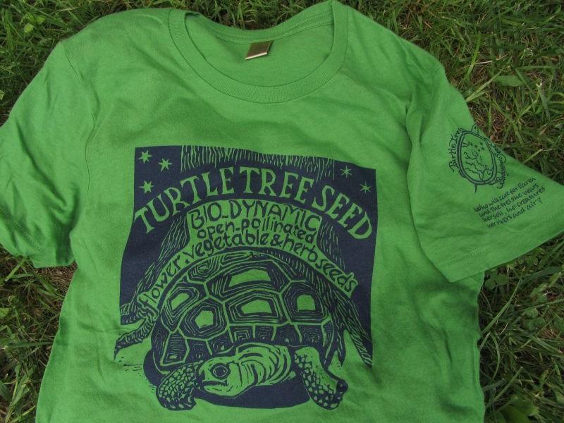 Organic Cotton Turtle Tree Green T Shirt Turtle Tree