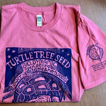 coral pink t-shirt